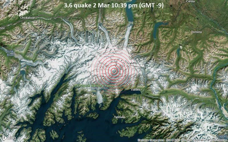 3.6 quake 2 Mar 10:39 pm (GMT -9)