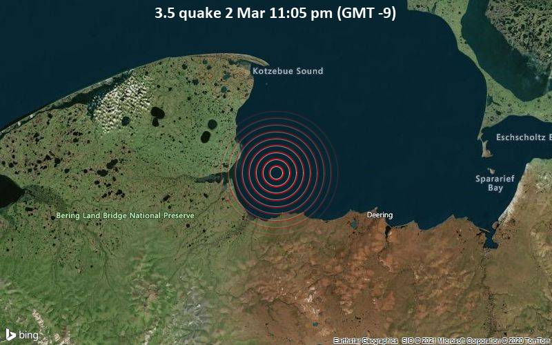 3.5 quake 2 Mar 11:05 pm (GMT -9)