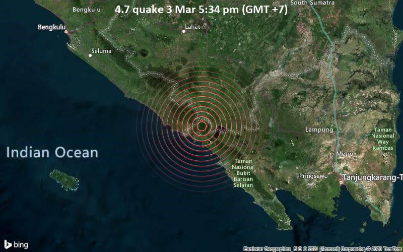 4.7 quake 3 Mar 5:34 pm (GMT +7)