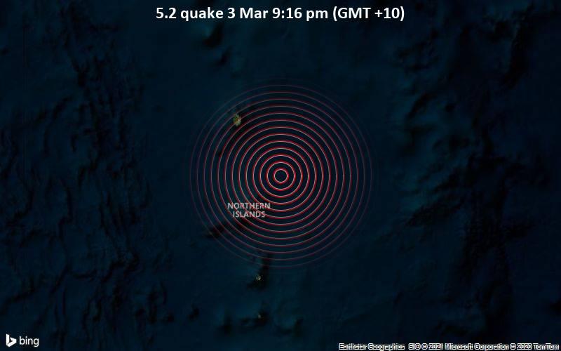 5.2 quake 3 Mar 9:16 pm (GMT +10)