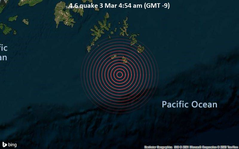 4.6 quake 3 Mar 4:54 am (GMT -9)