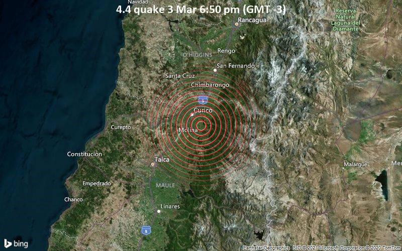 4.4 quake 3 Mar 6:50 pm (GMT -3)