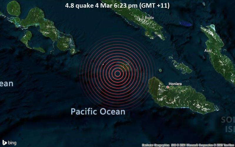 4.8 quake 4 Mar 6:23 pm (GMT +11)