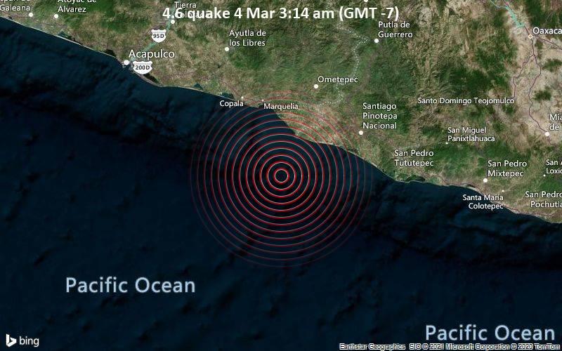 4.6 quake 4 Mar 3:14 am (GMT -7)