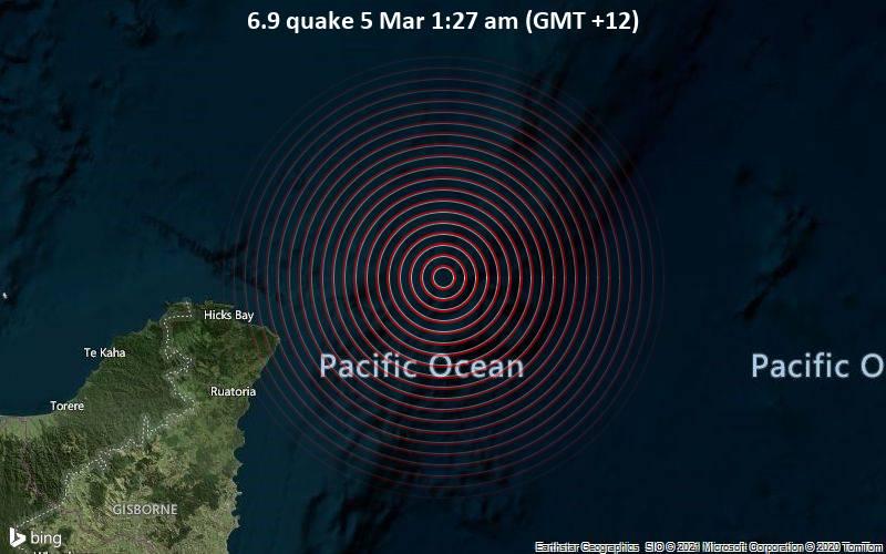 6.9 quake 5 Mar 1:27 am (GMT +12)
