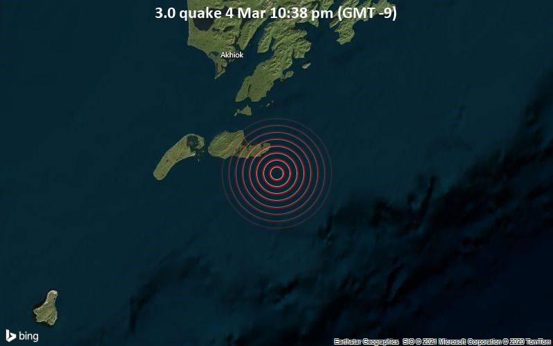 3.0 quake 4 Mar 10:38 pm (GMT -9)