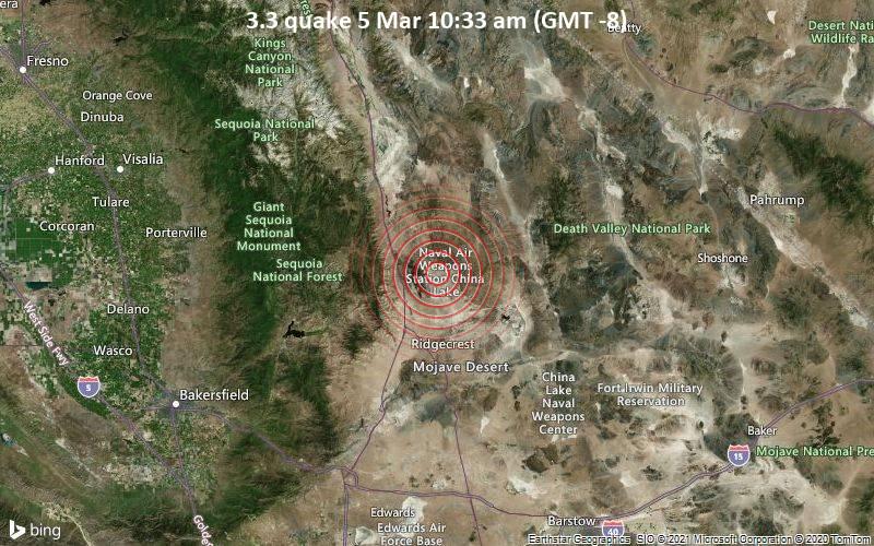3.3 quake 5 Mar 10:33 am (GMT -8)