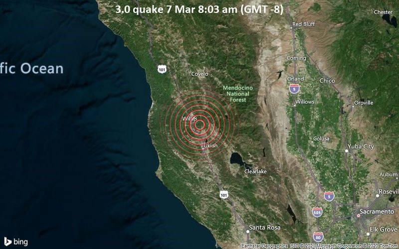 3.0 quake 7 Mar 8:03 am (GMT -8)