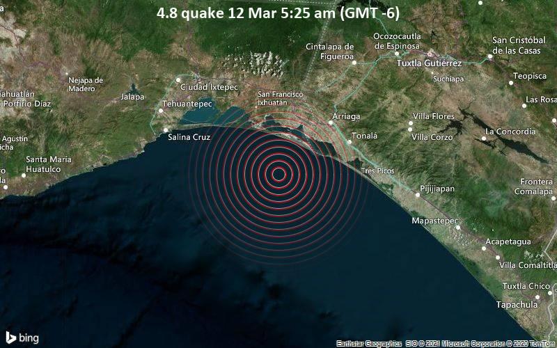 4.8 quake 12 Mar 5:25 am (GMT -6)