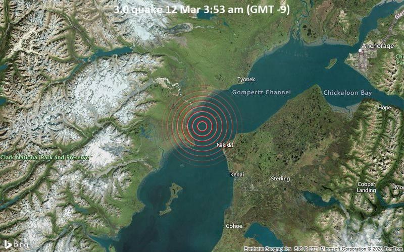 3.0 quake 12 Mar 3:53 am (GMT -9)