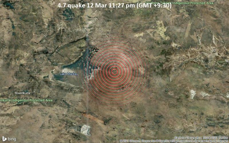 4.7 quake 12 Mar 11:27 pm (GMT +9:30)