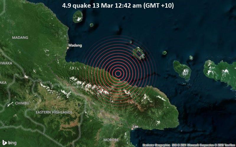 4.9 quake 13 Mar 12:42 am (GMT +10)