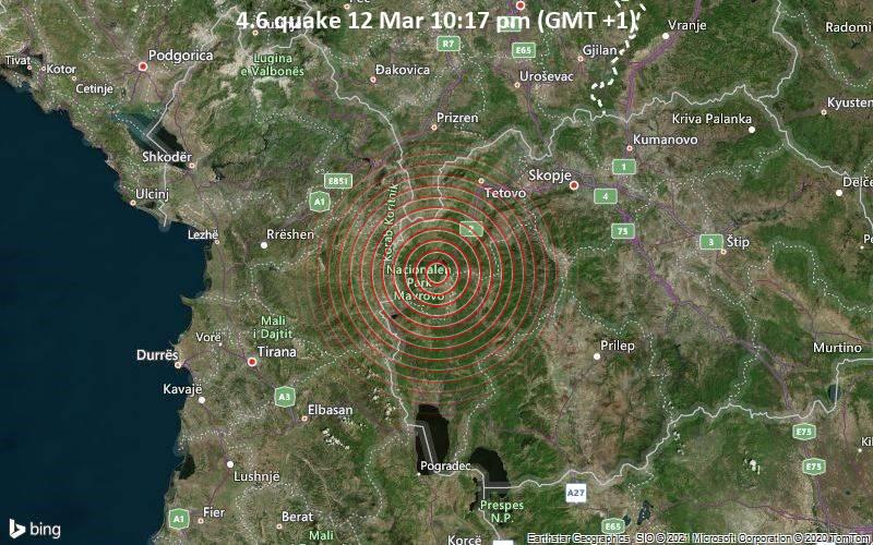 4.6 quake 12 Mar 10:17 pm (GMT +1)