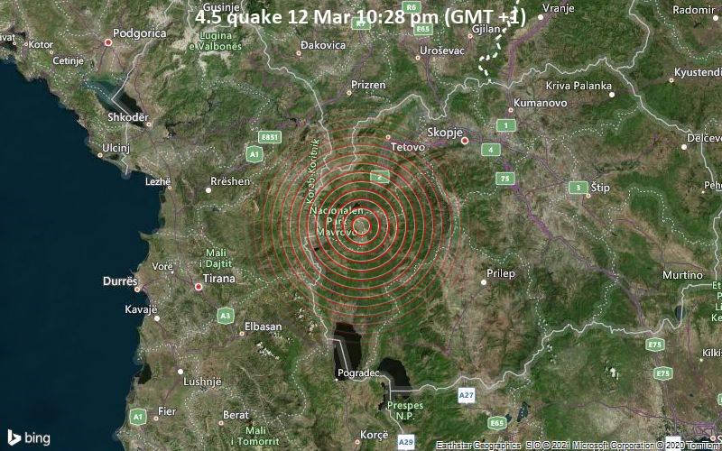 4.5 quake 12 Mar 10:28 pm (GMT +1)