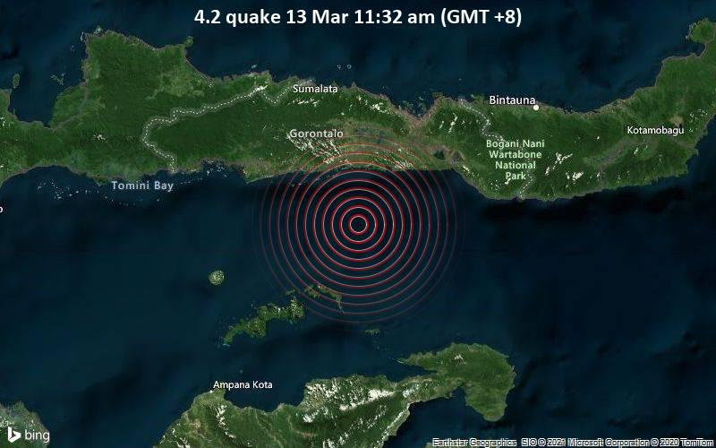 4.2 quake 13 Mar 11:32 am (GMT +8)