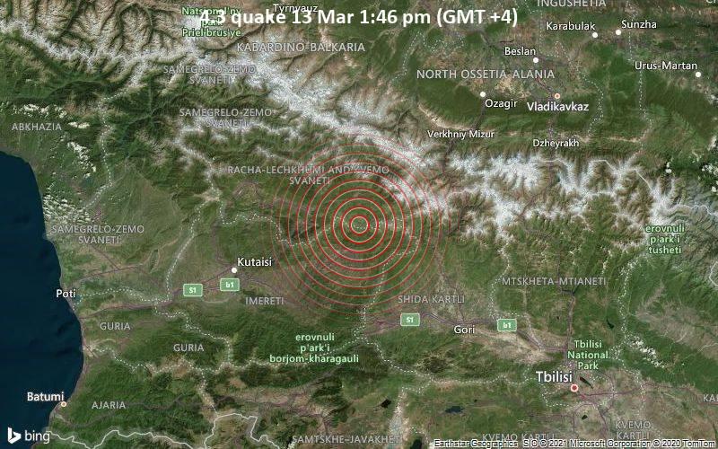 4.3 quake 13 Mar 1:46 pm (GMT +4)