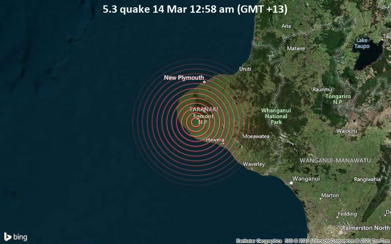5.3 quake 14 Mar 12:58 am (GMT +13)