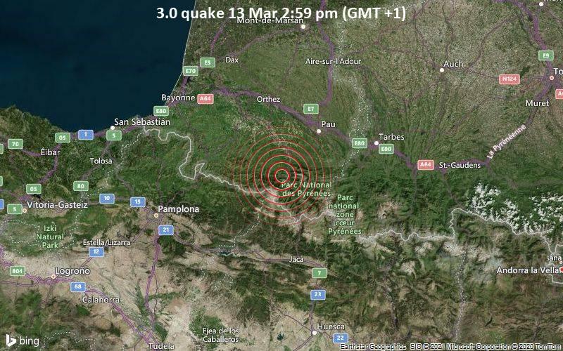 3.0 quake 13 Mar 2:59 pm (GMT +1)