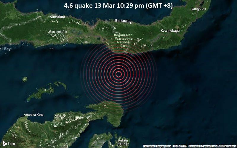 4.6 quake 13 Mar 10:29 pm (GMT +8)