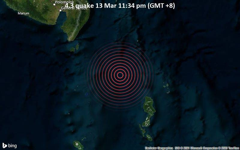 4.3 quake 13 Mar 11:34 pm (GMT +8)