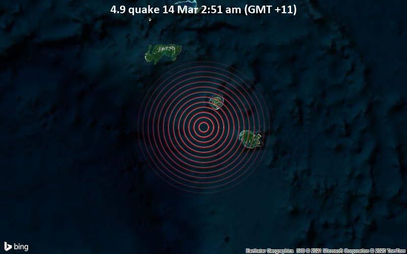 4.9 quake 14 Mar 2:51 am (GMT +11)