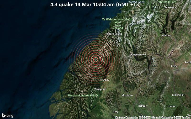 4.3 quake 14 Mar 10:04 am (GMT +13)
