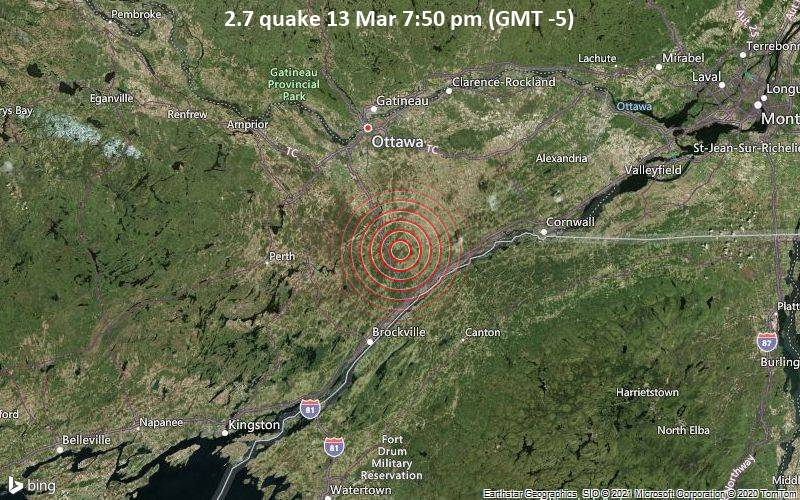 2.7 quake 13 Mar 7:50 pm (GMT -5)