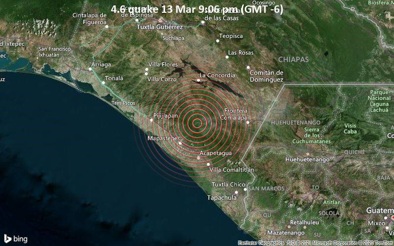 4.6 quake 13 Mar 9:06 pm (GMT -6)