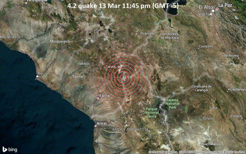 4.2 quake 13 Mar 11:45 pm (GMT -5)