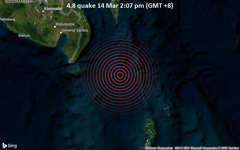 4.8 quake 14 Mar 2:07 pm (GMT +8)