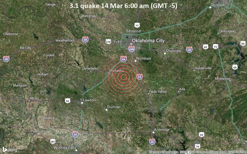 3.1 quake 14 Mar 6:00 am (GMT -5)