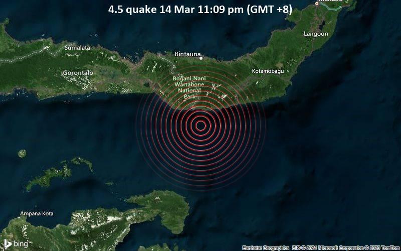4.5 quake 14 Mar 11:09 pm (GMT +8)