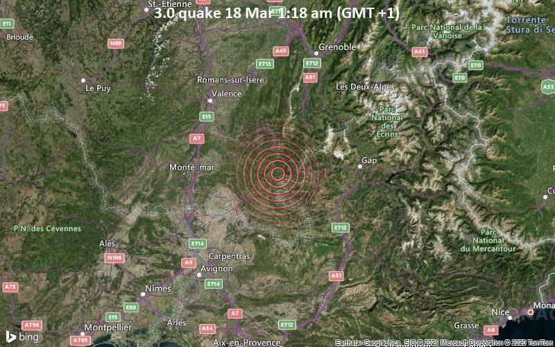 3.0 quake 18 Mar 1:18 am (GMT +1)