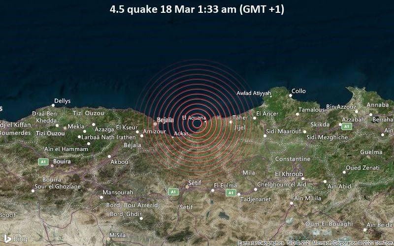4.5 quake 18 Mar 1:33 am (GMT +1)