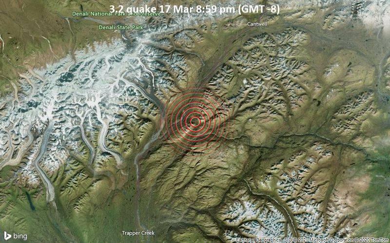 3.2 quake 17 Mar 8:59 pm (GMT -8)