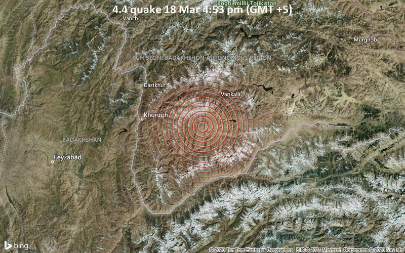 4.4 quake 18 Mar 4:53 pm (GMT +5)