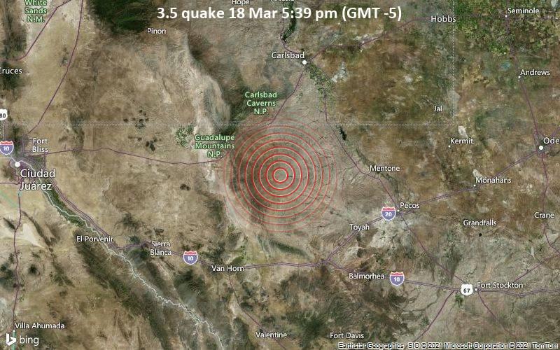 Terremoto de 3.5 18 de marzo a las 5:39 pm (GMT -5)
