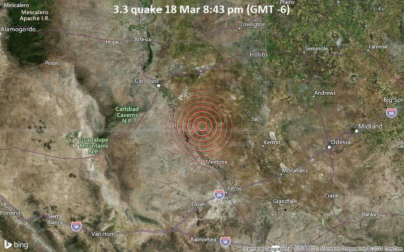 3.3 Terremoto 18 de marzo 8:43 pm (GMT -6)