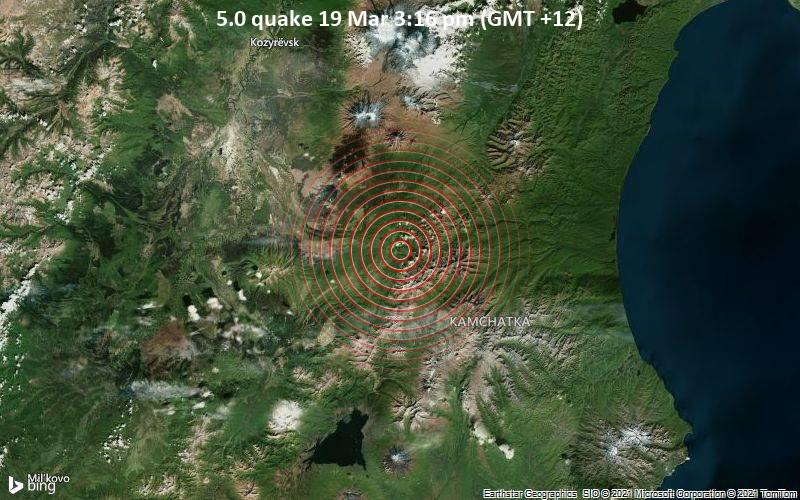 5.0 Terremoto 19 de marzo 3:16 pm (GMT +12)