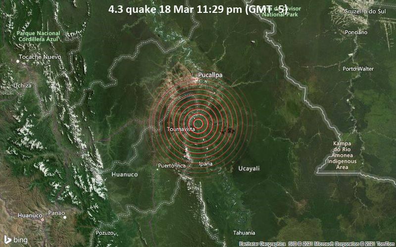 4.3 Gempa bumi 18 Maret 11:29 (GMT -5)