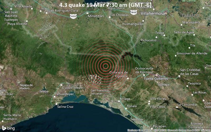 4.3 Gempa 19 Maret 07.30 (GMT -6)