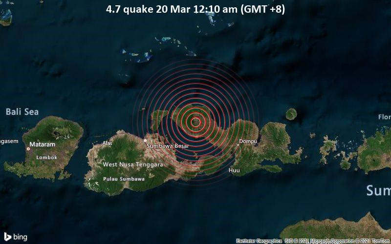 4.7 Gempa 20 Maret 12:10 (GMT +8)