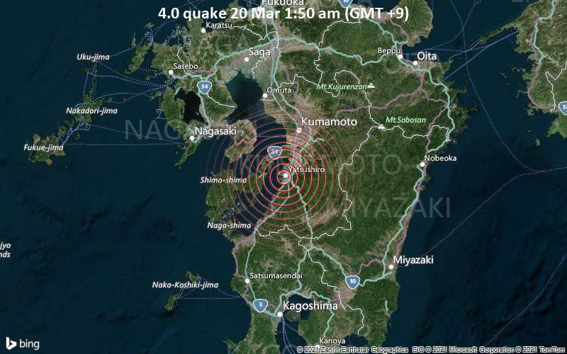 4.0 Gempa 20 Maret 01.50 (GMT +9)