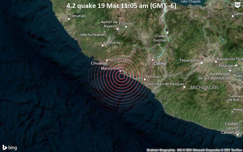 4.2 Gempa 19 Maret 11:05 (GMT -6)