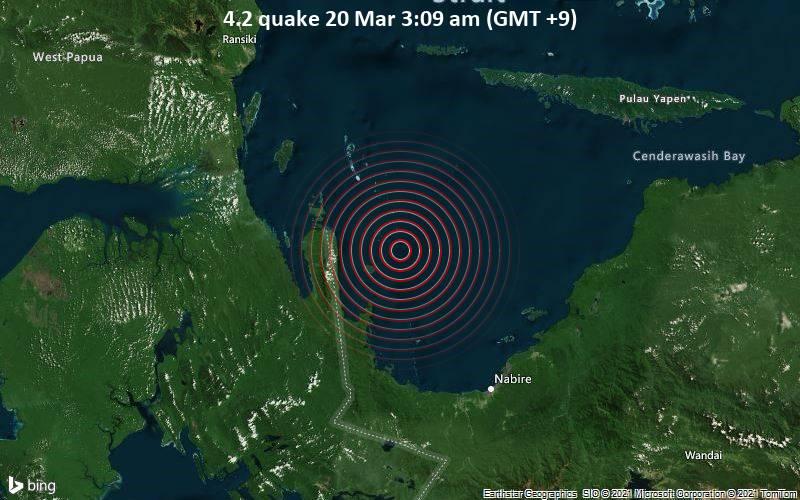 4.2 quake 20 Mar 3:09 am (GMT +9)