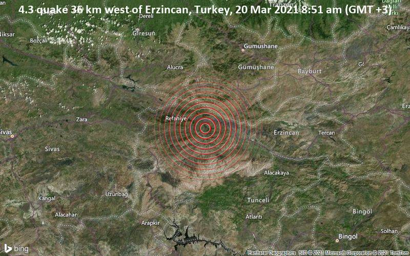 Terletak 36 km sebelah barat Erzincon, Turki.