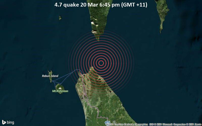4.7 Gempa bumi 20 Maret 18:45 (GMT +11)