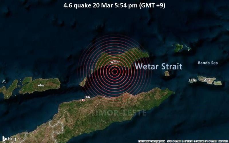 4.6 Gempa 20 Maret 5:54 PM (GMT +9)