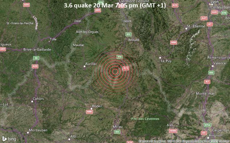 3.6 quake 20 Mar 7:05 pm (GMT +1)