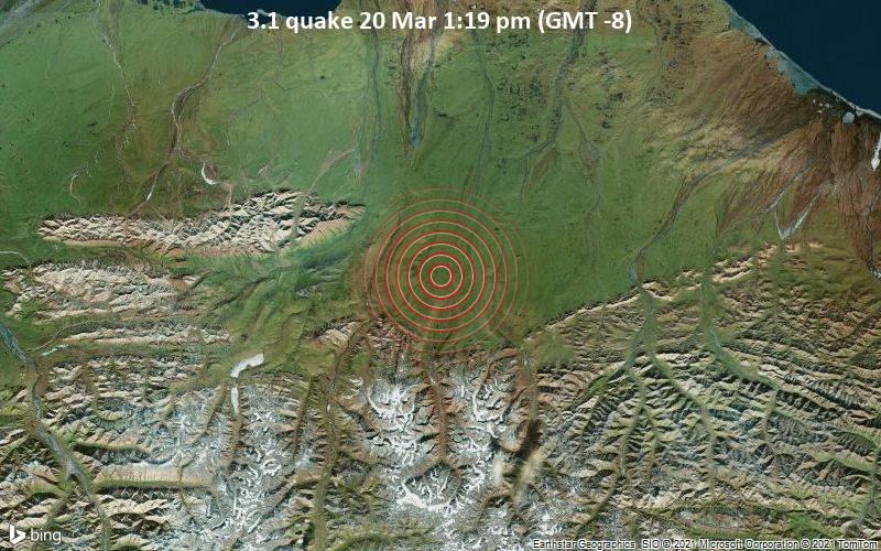 3.1 Terremoto 20 de marzo 1:19 pm (GMT -8)